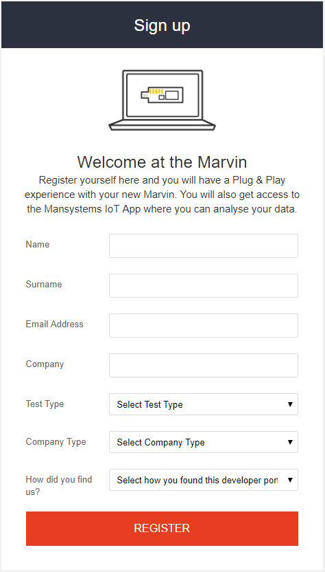 marvin signup